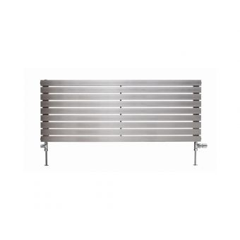Apollo Ferrara Brushed Stainless Steel Horizontal Radiator 300(h)mm