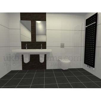 Pavia Designer Double Basin & Wall Hung WC Suite