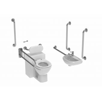 Saneux Care Doc M Back to Wall WC Pack with Concealed Fixings