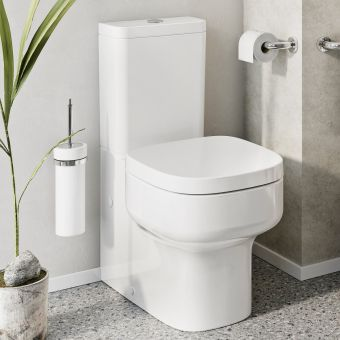 Crosswater Kai S Compact Close Coupled Closed Back WC - KL6305CW