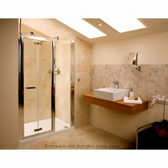 Roman Embrace Frameless In-Line Shower Panels