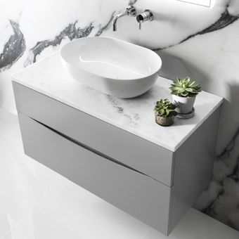 Crosswater Glide II 700mm Vanity Unit with Marble Worktop