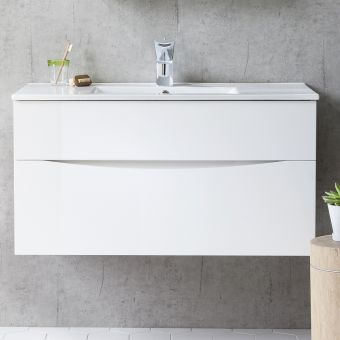 Crosswater Glide II Vanity Unit with Thin Basin