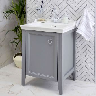 VitrA Valarte 1 Door 650mm Vanity Unit and Basin