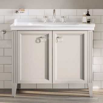 VitrA Valarte 2 Door 80cm Vanity Unit and Basin