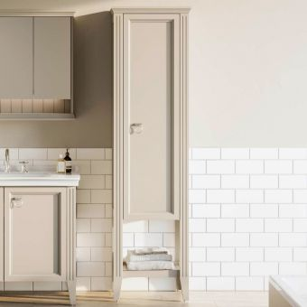 VitrA Valarte 1 Door Tall Bathroom Cupboard