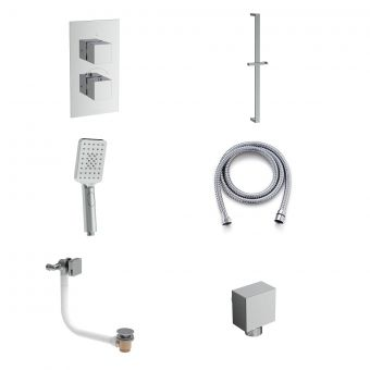 Saneux Tooga Shower Package with 3 Function Handset