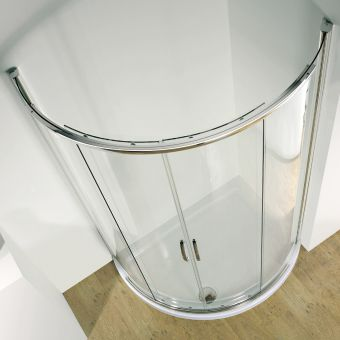 Kudos Infinite Offset Curved Shower Enclosure with Centre Access - 4CDOS108S
