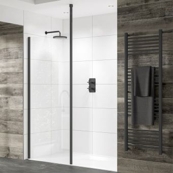 Sommer Black Shower Panel
