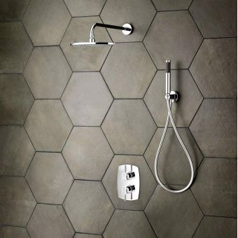 Victoria and Albert Tubo 41 Wall Mounted Fixed Shower Head and Arm