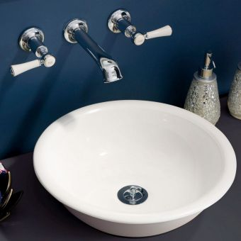 Victoria and Albert Staffordshire 3 Hole Wall Mounted Basin Mixer Set