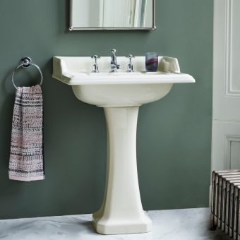 Burlington Medici Classic Rectangular Basin and Pedestal