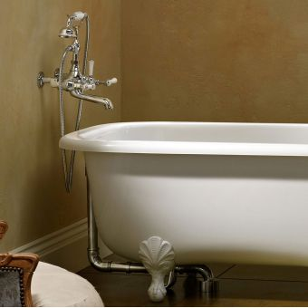 Victoria and Albert Staffordshire 15 Wall Mounted Bath Mixer with Shower Handset