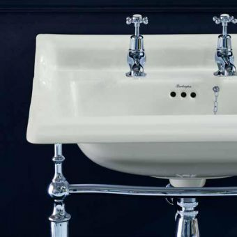 Burlington Medici Classic Rectangular Basin and Basin Stand