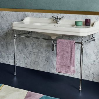 Burlington Medici Edwardian 1200mm Basin and Basin Stand