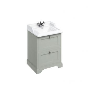 Burlington Medici Free-Standing Cloakroom 2 Drawer Vanity Unit