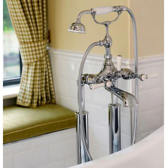 Victoria and Albert Staffordshire 26 Freestanding Bath Mixer Tap with Shower Handset