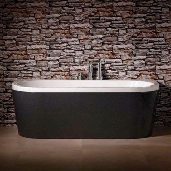 Carron Halcyon D Shaped Back to Wall Bath