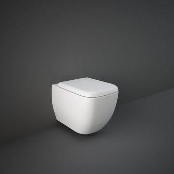 RAK Metropolitan Wall Hung Rimless Toilet with Hidden Fixings and Soft Close Seat - METRIMWHPAN/SC