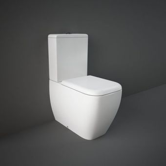 RAK Metropolitan Close Coupled Back to Wall Rimless Toilet Suite