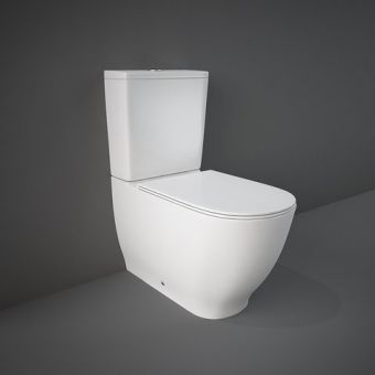 RAK Moon Close Coupled Back to Wall Rimless Toilet Suite