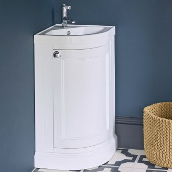 Burlington Corner Vanity Unit with One Door