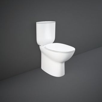 RAK Morning Comfort Height Close Coupled Rimless Back to Wall WC