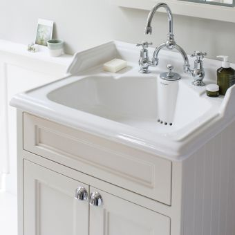 Burlington 65cm 2 Door Vanity with Classic Basin and Integrated Waste