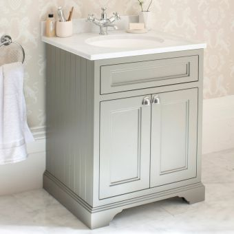 Burlington 65cm 2 Door Vanity with Worktop and Bowl