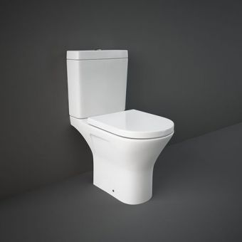 RAK Resort Open Back Mini Close Coupled Rimless Toilet Suite