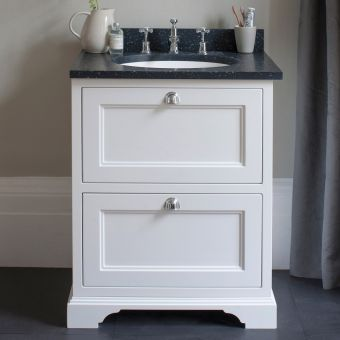 Burlington 65cm 2 Drawer Vanity with Worktop and Bowl