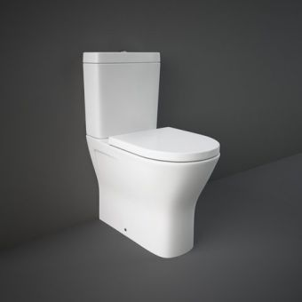 RAK Resort Comfort Height Close Coupled Back to Wall Rimless WC