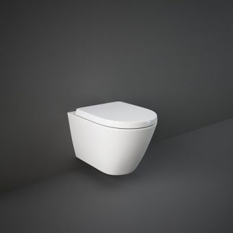RAK Resort Wall Hung Rimless Toilet with Hidden Fixings and Soft Close Seat - RSTWHPAN-HF/SC