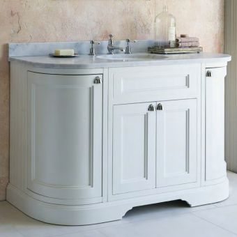 Burlington 1340mm Curved 4 Door Vanity Unit