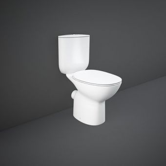 RAK Morning Comfort Height Close Coupled Rimless Open Back Toilet Suite