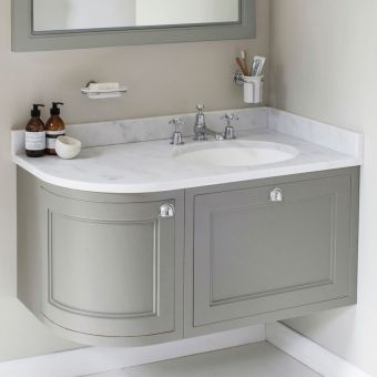 Burlington 100cm Curved Corner Wall Hung Vanity