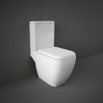 RAK Metropolitan Close Coupled Open Back Toilet Suite - METPAKSC-DL