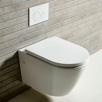 Tavistock Orbit Wall Hung Rimless Toilet