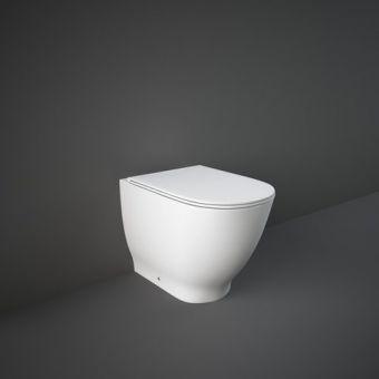 RAK Moon Back to Wall Toilet Pan with Slimline Seat - HARBTWPAN/SC