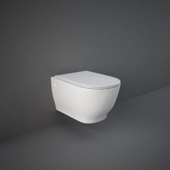 RAK Moon Wall Hung Toilet with Slimline Seat