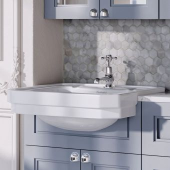 Burlington Victorian Semi Recessed Basin