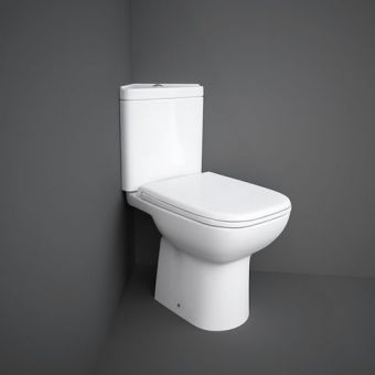 RAK Origin Corner Close Coupled Open Back Toilet Suite