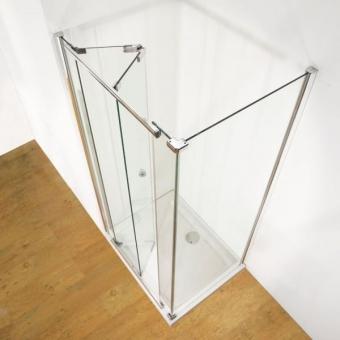 Kudos Infinite 800mm Bi-Fold Shower Door with 760mm Side Panel
