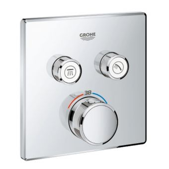 Grohe Smartcontrol Thermostatic Concealed Shower Valve with 2 Outlets
