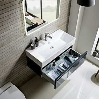 Tavistock Forum Wall Hung Vanity Unit with Basin