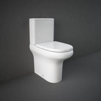 RAK Compact Deluxe Comfort Height Close Coupled Back to Wall Rimless Toilet Suite