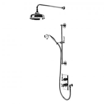 Tavistock Varsity Thermostatic Concealed Shower Mixer with Overhead Drencher and Shower Handset