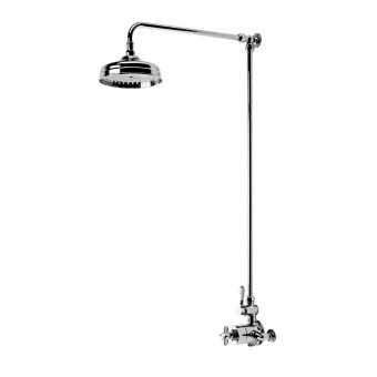 Tavistock Varsity Exposed Thermostatic Shower Valve with Overhead Shower