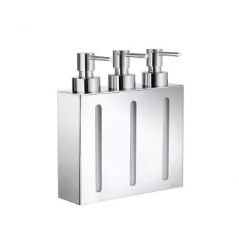 Smedbo Outline Soap Dispenser with 3 Containers FK259