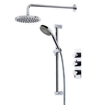 Tavistock Kinetic Concealed Thermostatic Shower Mixer with Twin Showers